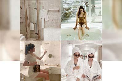 女子が憧れる大理石バスルームって? 海外に行かなくてもおしゃれで可愛い写真を撮れる場所、お教えします♡(NETViVi紹介文の引用です)